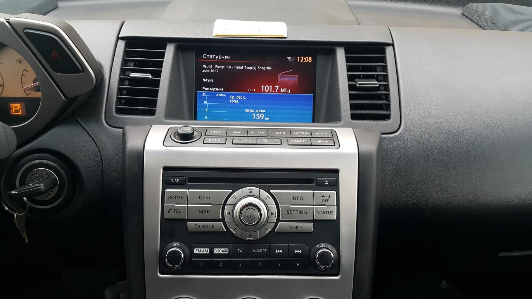 Установка Connect Primium 08IT в Nissan Murano Z50
