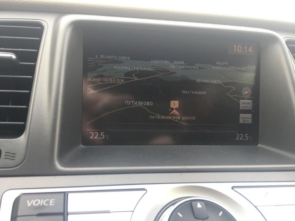Обновление навигации на Nissan/Infiniti с ГУ 08IT