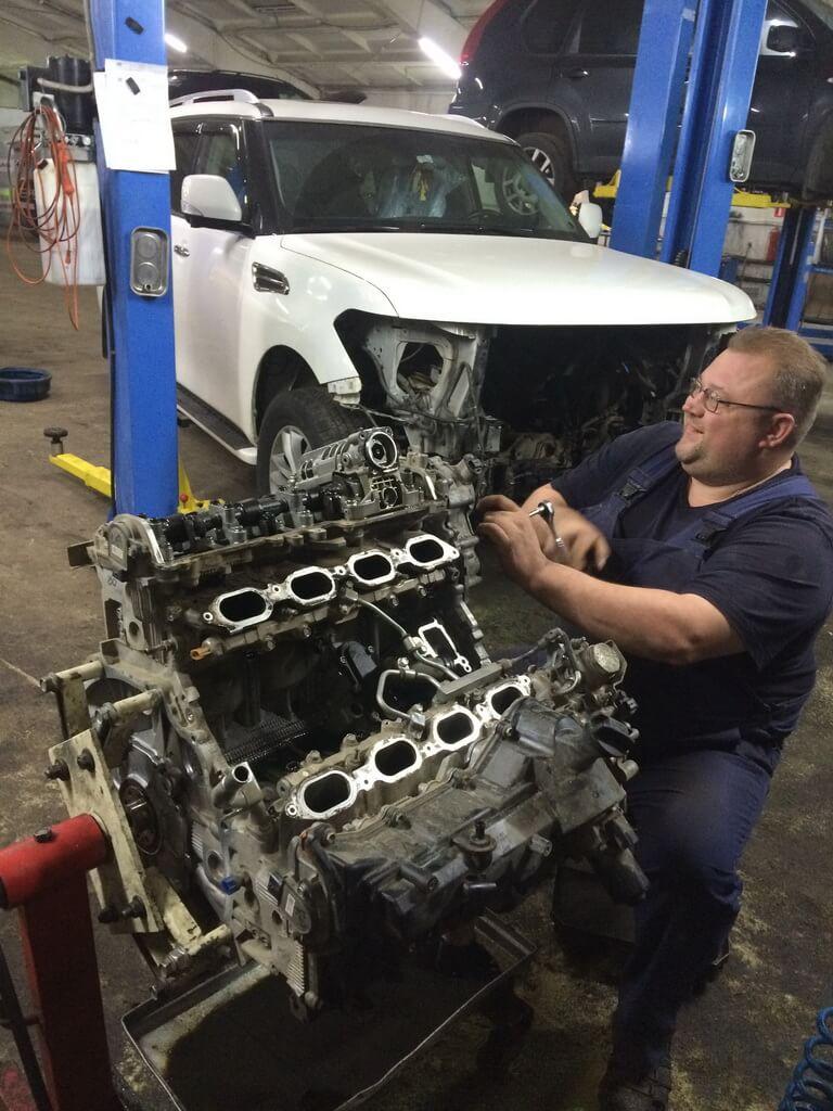 Ремонт двигателя на Nissan Patrol