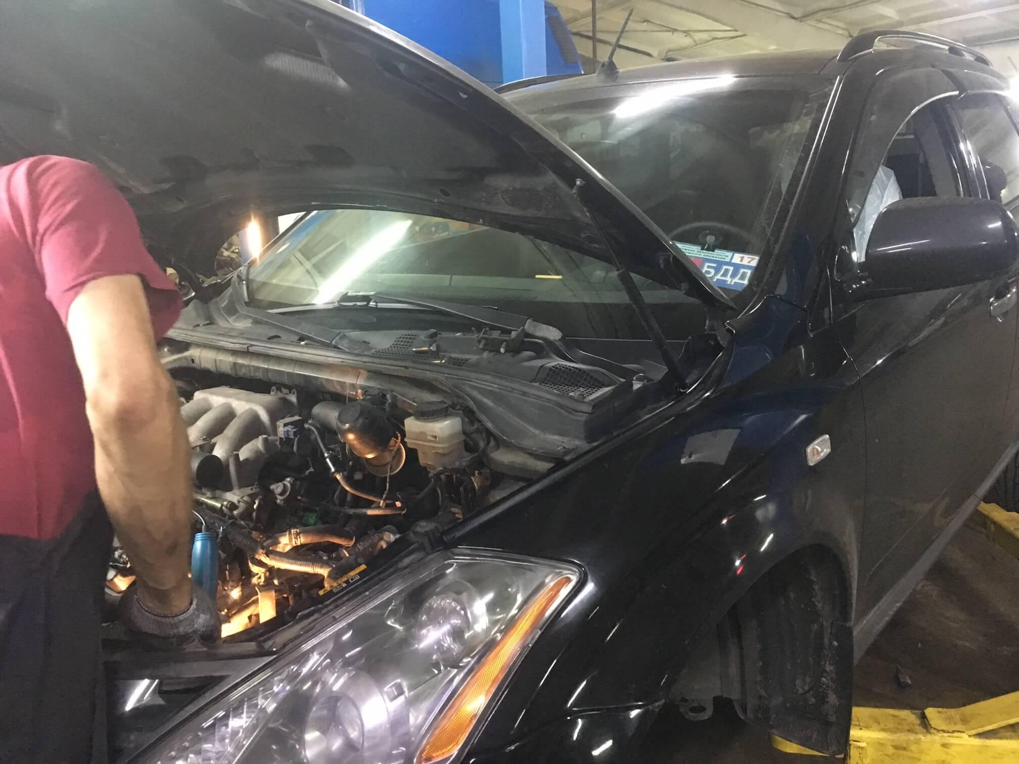 Nissan Murano: удаление катализаторов, замена заднего сальника коленвала