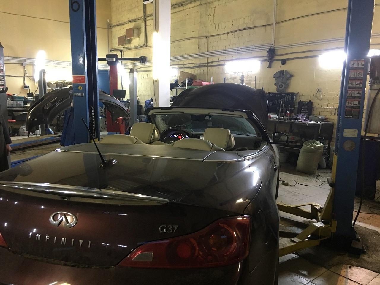 Заказать Infiniti G37 cabrio: последствия ненадлежащего обслуживания двигателя - Фото 1