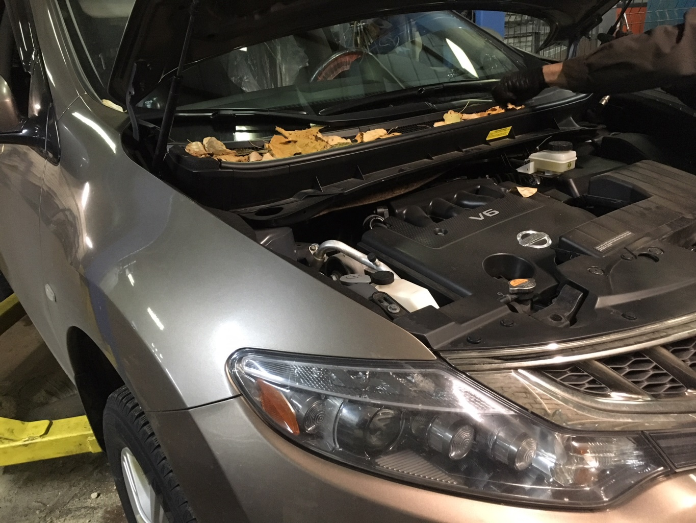 Заказать Nissan Murano Z51: ремонт трапеции стеклоочистителя - Фото 1